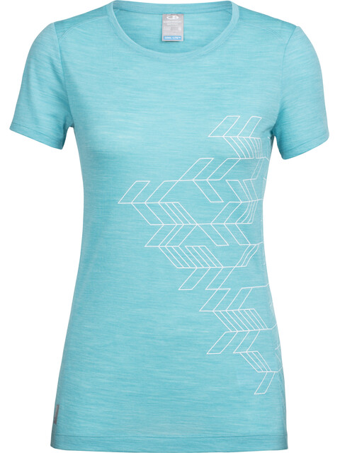 Icebreaker Sphere Fracture - T-shirt manches courtes Femme - turquoise